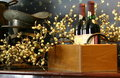 Decorative display of wine Stock Photography