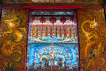Decorative doors inside the temple of enlightenment kaohsiung city taiwan Royalty Free Stock Photos