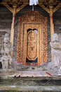Decorative doorway of pura kehen temple in bali at entrance to indonesia Royalty Free Stock Images