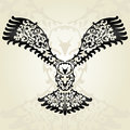 Decorative eagle hand drawn design element Stock Photography