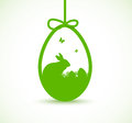 Decorative easter egg greeting card Royalty Free Stock Photo