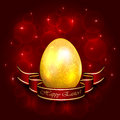 Decorative Easter egg with ribbon Royalty Free Stock Photos