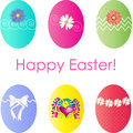 Decorative easter eggs with daisy flowers and cute decorations Royalty Free Stock Image