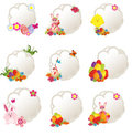 decorative easter tags Royalty Free Stock Photo