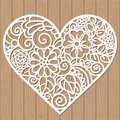 Decorative element for laser cutting Royalty Free Stock Photo