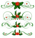 Decorative elements. Holly Royalty Free Stock Image