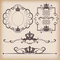 Decorative elements . Vintage Royalty Free Stock Image