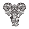 Decorative elephant illustration indian theme with ornaments vector isolated Stock Photography