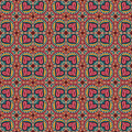 Decorative ethnic abstract love heart flowers pattern vector seamless Royalty Free Stock Photos