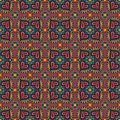 Decorative ethnic abstract love heart flowers pattern vector seamless Stock Photos