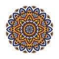 Decorative ethnic mandala. Outline isolates ornament. Vector design with islam, indian, arabic motifs.