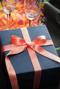 Decorative festive gift Royalty Free Stock Images