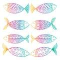Decorative fish pattern.