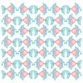 Decorative fish pattern.pattern.
