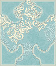 Decorative floral background in pastel blue colors antique style Royalty Free Stock Image