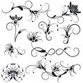 Decorative Floral Design Elements Stock Images