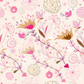 Decorative floral pattern Stock Images