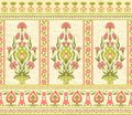 Decorative floral pattern in eastern style