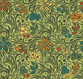 Decorative floral retro seamless background Royalty Free Stock Image