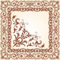 Decorative floral scope Royalty Free Stock Images