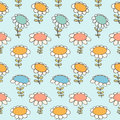Decorative floral seamless pattern camomiles texture daisy light background with flowers spring Royalty Free Stock Photography