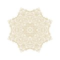 Decorative flourish rosette Royalty Free Stock Photo