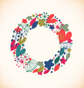 Decorative flourish round garland vector Royalty Free Stock Images