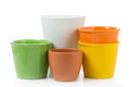 Decorative Flower Pots Royalty Free Stock Photo