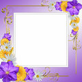Decorative flowers frame Stock Photography