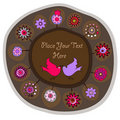 Decorative folk plate Stock Photo