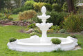 Decorative fountain in the garden Stock Image