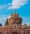 Decorative fountain in VVC Royalty Free Stock Image