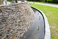 Decorative fountain wall Royalty Free Stock Photo