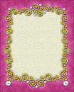 Decorative frame and border Royalty Free Stock Photo
