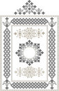 Decorative frame, border of oriental ornament.Grap Stock Images