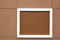 Decorative frame brown simple framed message board Stock Photos