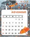 Decorative Frame For Calendar - November