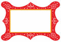 Decorative frame with floral elements Royalty Free Stock Images