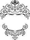 Decorative frame ornament.  Graphic arts. Royalty Free Stock Photo