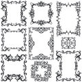 Decorative frame set III b&w Royalty Free Stock Image