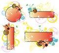 Decorative frames Stock Photography