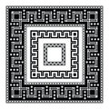 Decorative frames greek geometric pattern with flowers and leaves Royalty Free Stock Images