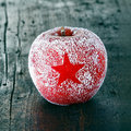 Decorative fresh Christmas apple Stock Images
