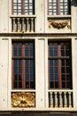 Decorative frontage around windows Royalty Free Stock Photography