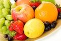 Decorative Fruit Platter Royalty Free Stock Photo