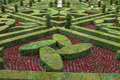 Decorative gardens at castles in france splendid Royalty Free Stock Photo