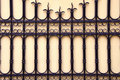 Decorative gate. Architectural metal background. Stock Images