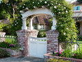 Decorative Gate With Roses.  F...
