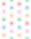Decorative geometric flovers. Abstract background.