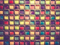 Decorative glass blocks in different colors abstract background Royalty Free Stock Photos